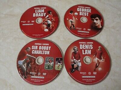 Football Legends - Best, Brady, Charlton And Law DVDs, 2013, 4-Disc Set