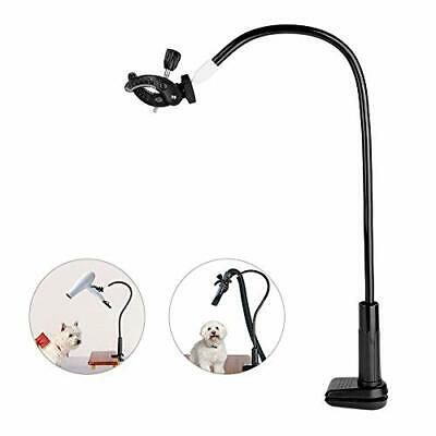 Pet Hair Dryer Holder 360 Degrees Rotatable Hands-free Hair Dryer Stand Aluminum
