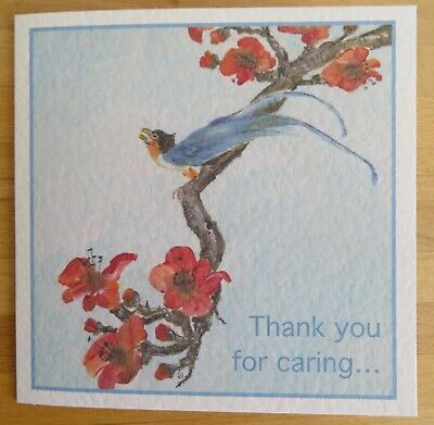 """Thinking Caring Greeting Card Little Bird Lovely Words 6x6/"""" Can Personalise"""