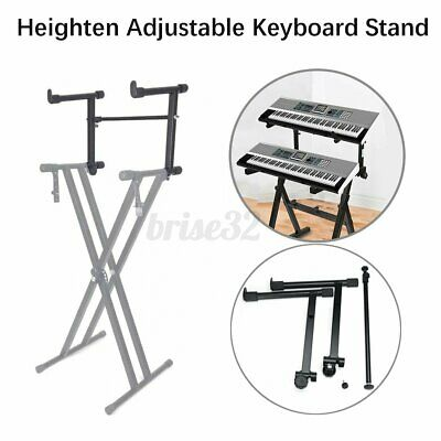 Adjustable 2-Tiers Heighten Keyboard Stand Electronic Music Piano Holder Adapter