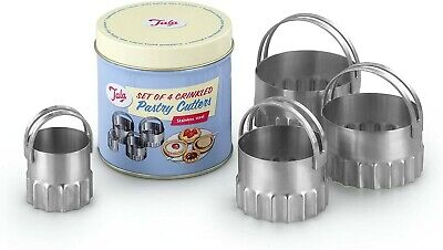 Tala Set Of 4 Crinkled Pastry Cutters. New In Tin
