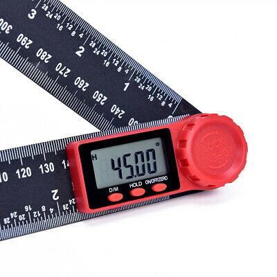 2 IN 1 Electronic LCD Digital Angle Finder 200mm  Measure Tool Protractor Ruler