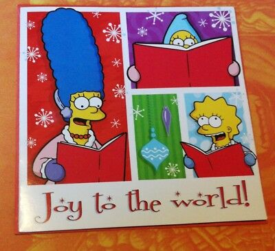 The Simpsons Christmas Card: Joy to the World | 2009 Fun Occasion Novelty