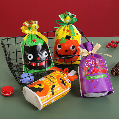 Halloween Cookie Gift Bags Cellophane Party Candy Bag Adhesive Self Z2F5