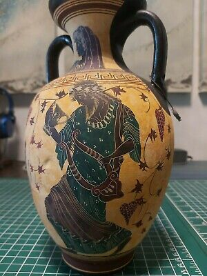 Dionysus Feast - Ancient Greek Amphora Vase - Museum Replica - God of Wine