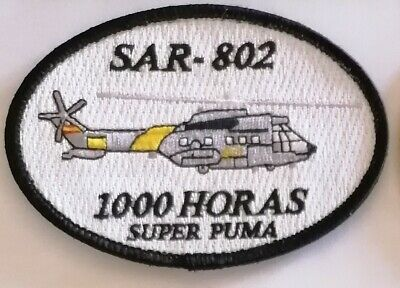 Spain Ejercito Del Aire Patch As332 Super Puma 48 Wing 802 Squadron Sar
