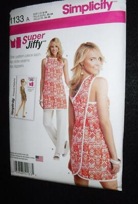 S1133 Simplicity Pattern Misses 6-18 Wrap Apron Tunic Dress Beach Cover EASY