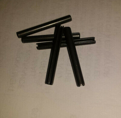 3mm x 28mm roll pin, spring pin, steel, black oxide (5 pieces)