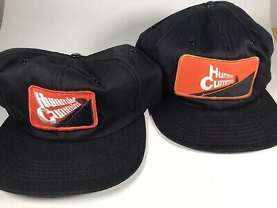 Vintage Hummin Cummins Patch Hat Lot of 2