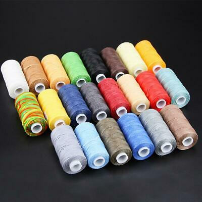 Waxed Thread 0.8mm Flat Polyester Cord Sewing Stitching Leather Craft M4D4