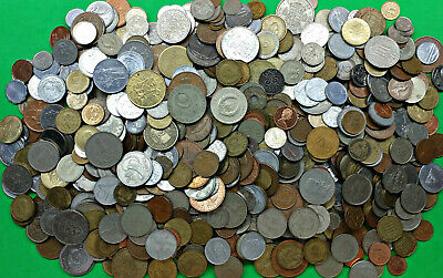 Bag of 7.5 lbs World Foreign Coins Pounds of Fun !!  bulk kg lot Lot WCAG