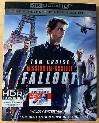 Mission Impossible Fallout 4K UHD + Blu-ray + Digital code New w Slipcover