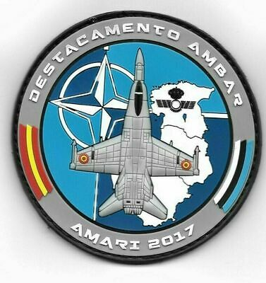 Spain Ejercito Del Aire Patch Ala 15 F-18 Hornet Nato Baltic Air Policing 2017
