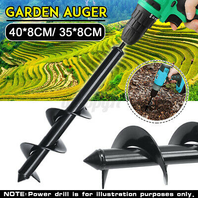 UK Earth Auger Black Drill Bit Fence Borer For Garden Post Hole Digger Tool GB