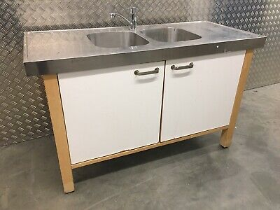 Ikea Varde Freestanding Kitchen Sink Unit Stainless Steel Top Sutton 425 00 Picclick Uk