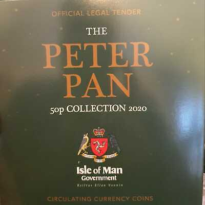 2020 PETER PAN Isle of Man 50p COIN SET Complete Set Manx IOM NEW RELEASE