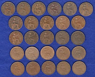 GB, Farthings, George V, 1911 to 1936, Complete Date Run, 26 Coins (Ref. t3205)