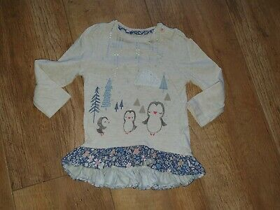 MOTHERCARE GIRLS T-SHIRTS PACK OF THREE BNWT LONG SLEEVE AGE 9-12 12-18 18-24 MT