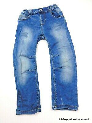 4-5 years boys Nutmeg blue jeans striaght stylish denim trousers