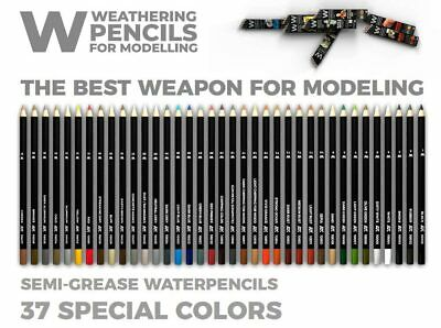 AK Interactive AK10047 Weathering Pencils for Modeling Deluxe Edition Box
