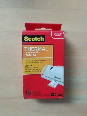 Scotch Business Card Size Thermal Laminating Pouches 5 Mil 3m 051141366623 for sale online