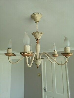 Details about John Lewis Malik Chandelier Ceiling Light, Brass Finish £135.00 Ex Display
