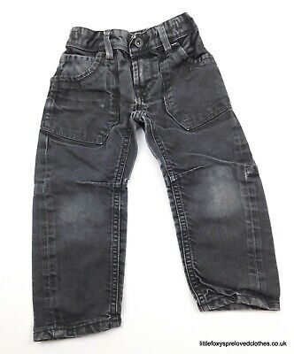 3 years boys Matalan black relaxed fit jeans straight denim trousers comfy