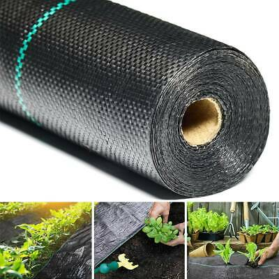 1m 2m Widths Weed Barrier Fabric Ground Cover Membrane Mulch Garden Landscape