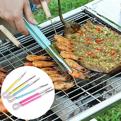 Stainless Steel Food Clip Ice Tongs Meat Salad Toast Tongs BBQ Kitchen T Z yc_JO