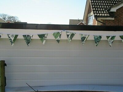 Green Tropical Leaf Design Pvc Garden/ Indoor Bunting 10Ft Approx 3 Mtrs