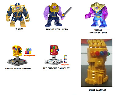 Marvel/'s THANOS  Custom Carded Minifigure Display Avengers Infinity War Gauntlet