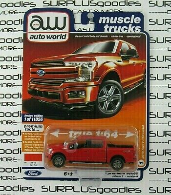 2020 AUTO WORLD 2019 FORD F-150 LARIAT MUSCLE TRUCKS REL 3 VS A 1:64 TRUCK