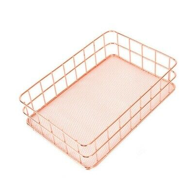 20X(Simplicity Style Rose Gold Metal Iron Storage Basket Combination Holder