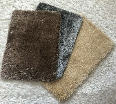 New Small SHIMMER SPARKLE GLITTER Soft Pile Rugs Anti slip washable