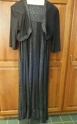 R & M Richards Charcoal Size 18 Mother of the Bride/Occasion Dress