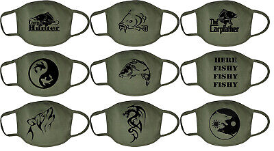 Carp Fishing Face Mask Washable Breathable Reusable Protection Wolf Fish