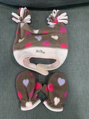 Girls Old Navy Hat Set Size Small 12-24 months