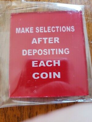 Seeburg M100A M100B M100BL M100C Electrical Selector Coin Instruction. GLASS
