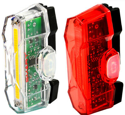 SMART BICYCLE BIKE SAFETY LIGHTING SET FRONT BL183WWO-3 AND REAR RL403R