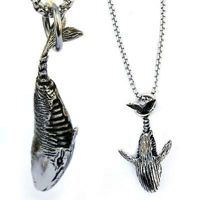 Personalized Stainless Steel Shark Pendant Chain Necklace Fish Choker Jewellery