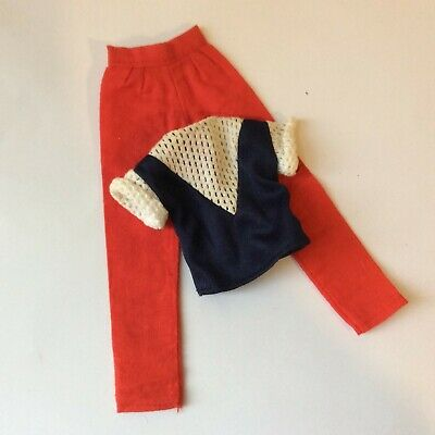 Sindy doll 1984 Casuals 43000 Red Trousers Blue Top vintage dolls clothes