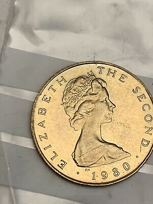 1980 £1 Pound ISLE OF MAN coin ( Uncirculated)