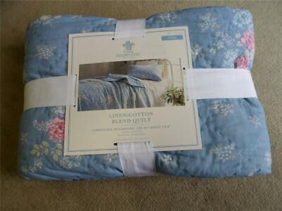 Twin NEW Simply Shabby Chic Lily Rose Chambray Quilt