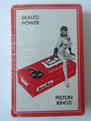 1960s Auto Advertising Playing Cards SEALED POWER Piston Rings Sexy Woman Sealed