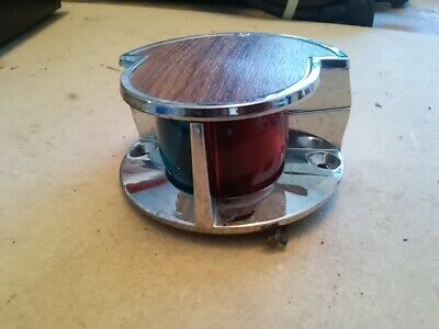 "1013 RED GLASS VINTAGE BOAT LENS ROUND 1 7//8"" DIA"