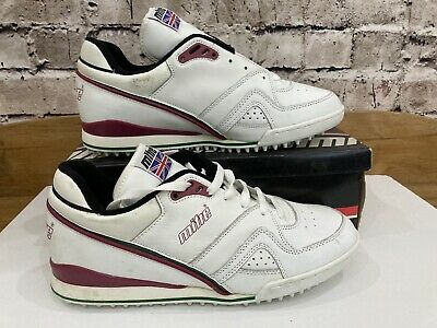 Mens Mitre Lords Cricket Trainers White And Green Size UK 12 Spikes Triple Sole