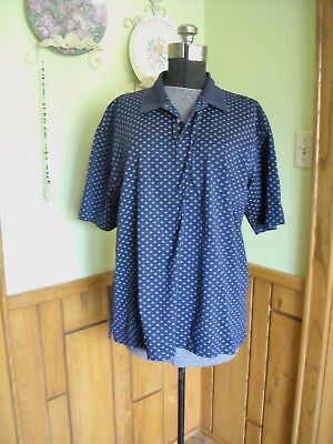 Austin Reed London Men S Xxl Polo Shirt Blue Paisley Short Sleeve Cotton 13 95 Picclick