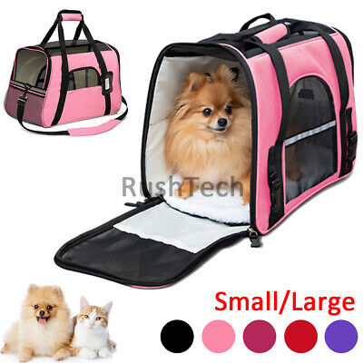 Pet Small Dog Cat Carrier Bag Soft Sided Comfort Travel Case Airline Approved US