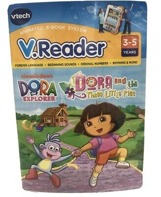 V.Reader Animated E-Book Cartridge Dora and  the Three Little Pigs