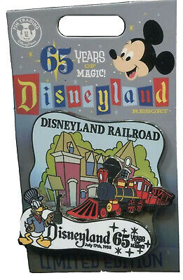 New DLR Disneyland 65th Anniversary Railroad Train LE Disney Pin